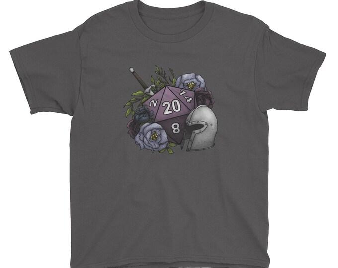 Fighter Class D20 Youth Kids Short Sleeve T-Shirt - D&D Tabletop Gaming