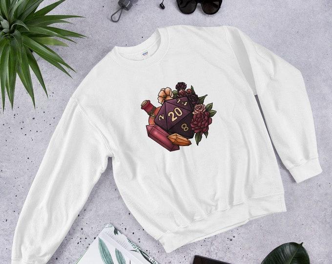 Sorcerer Class D20 Unisex Sweatshirt - D&D Tabletop Gaming