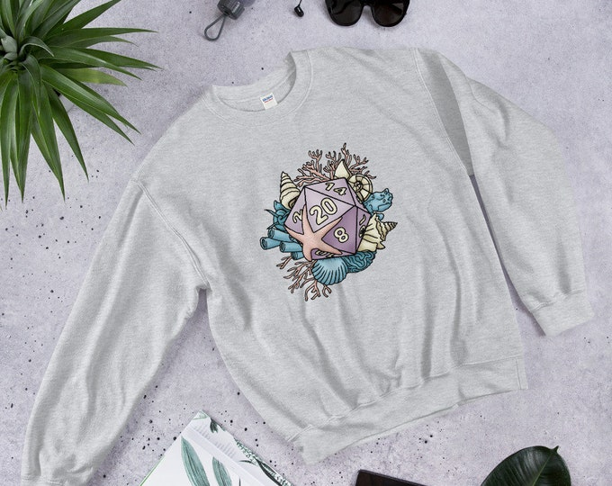 Mermaid D20 Unisex Sweatshirt - D&D Tabletop Gaming