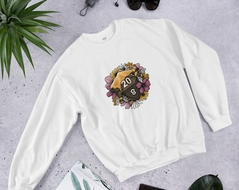 Honeycomb D20 Unisex Sweatshirt - D&D Tabletop Gaming