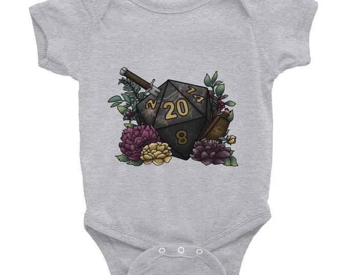 Assassin D20 - Infant Bodysuit - D&D Tabletop Gaming