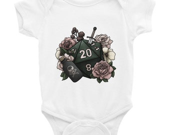 Rogue Class D20 Infant Bodysuit - D&D Tabletop Gaming