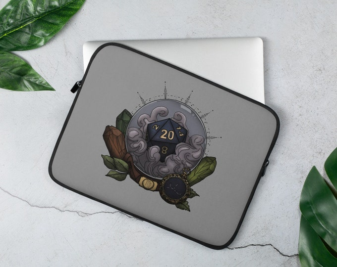 Virgo D20 Laptop Sleeve - D&D Tabletop Gaming - Zodiac Astrology