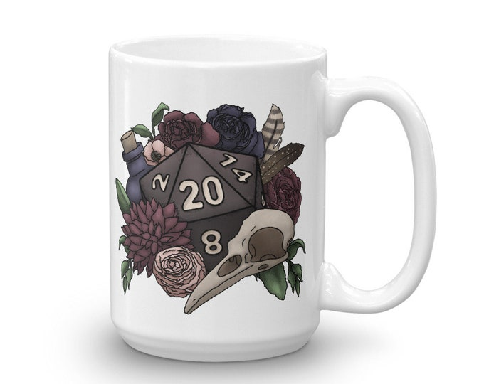 Necromancer D20 Mug - D&D Tabletop Gaming