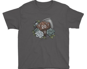 Paladin Class D20 Youth Kids Short Sleeve T-Shirt - D&D Tabletop Gaming