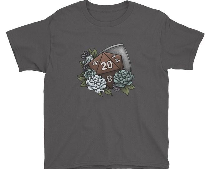 Paladin Class D20 Youth Kids Short Sleeve T-Shirt - D&D Tabletop Gaming