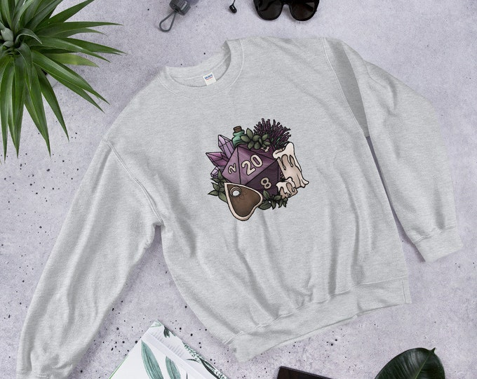 Witchy D20 Unisex Sweatshirt - D&D Tabletop Gaming