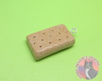 Shortbread Charm - Choose your attachment! polymer clay charms, jewelry, keychain, necklace, phone strap, dust plug, key ring