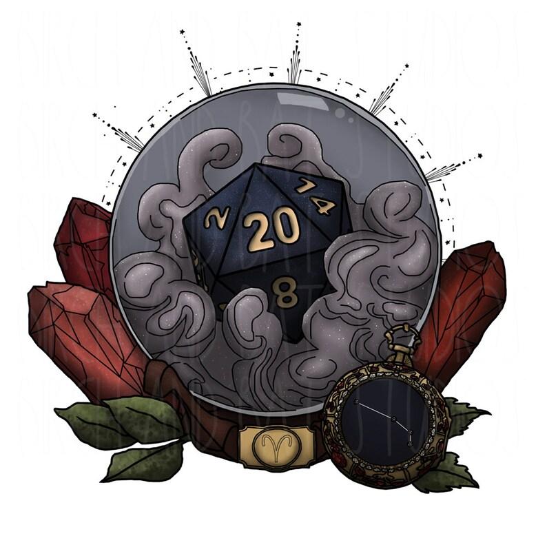 Zodiac D/&D Tabletop Gaming Aries D20 Tote Bag