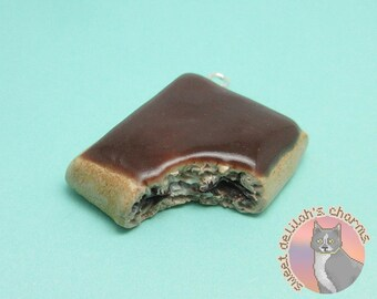 Smores Pop Tart Charm - Choose your attachment! polymer clay charms, jewelry, keychain, necklace, phone strap, dust plug, key ring