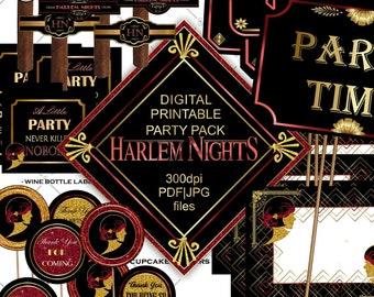 Harlem Nights Party Etsy