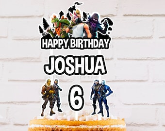 fortnite personalised bunting custom cake topper lolly loot bag thank you tag party favours party supplies decorations - fortnite tags