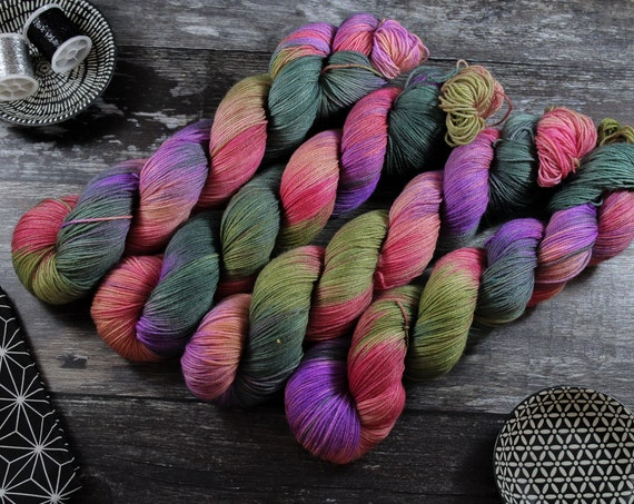 Hand Dyed Sock Yarn Superwash Merino/Nylon - Oh Hey Spring