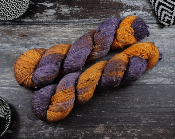 Donegal Tweed Sock Yarn - BFL - Emo Tangerine