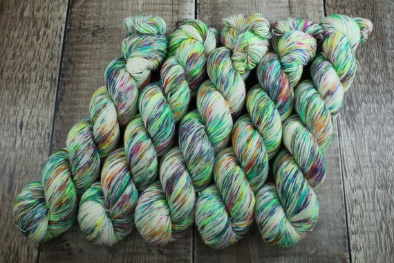 Hand Dyed Sock Yarn, Superwash Merino Nylon, Rainbow Yarn, Pride - Be Loud