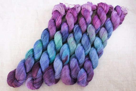 Hand Dyed Planty Yarn, Plant Yarn, Natural Fibres, Plant Based Yarn, 4ply Yarn, Fingering Weight Yarn - Crown Jewels