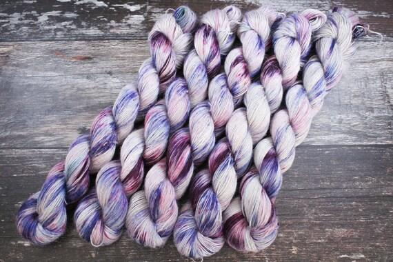 Hand Dyed Planty Yarn, Plant Yarn, Natural Fibres, Plant Based Yarn, 4ply Yarn, Fingering Weight Yarn - Blueberry Margarita