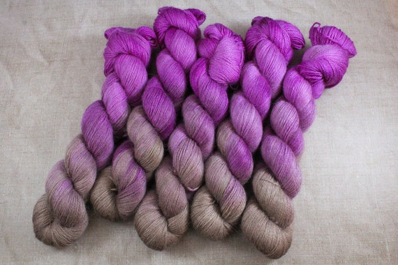 Silky Alpaca Fingering Weight, 4ply, Yarn - Druzy