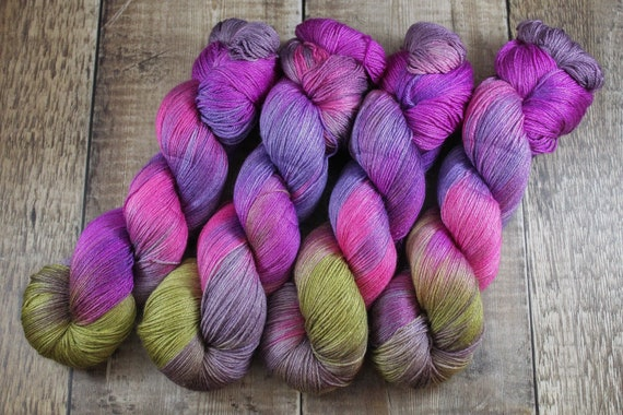 Hand Dyed Sock Yarn, 4ply, Plus Size Skein, 150g/600m, BFL and Silk - Forest Bathing is not a thing