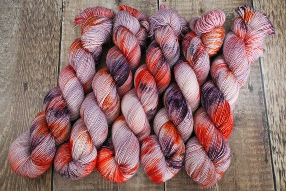 Hand Dyed Sparkle Sock Yarn - Just as you are, Megababes Collection