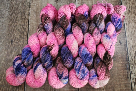 Hand Dyed Sparkle Sock Yarn - Every body is a bikini body, Megababes Collection