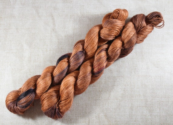 Hand Dyed Planty Yarn, Plant Yarn, Natural Fibres, Plant Based Yarn, 4ply Yarn, Fingering Weight Yarn - Copper