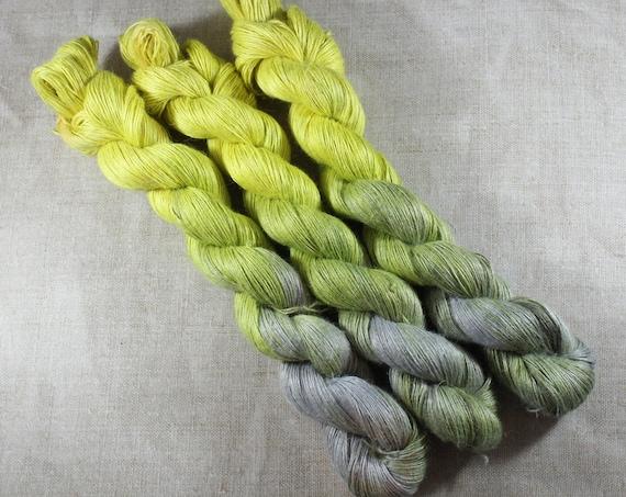Hand Dyed Planty Yarn, Plant Yarn, Natural Fibres, Plant Based Yarn, 4ply Yarn, Fingering Weight Yarn - Citrine