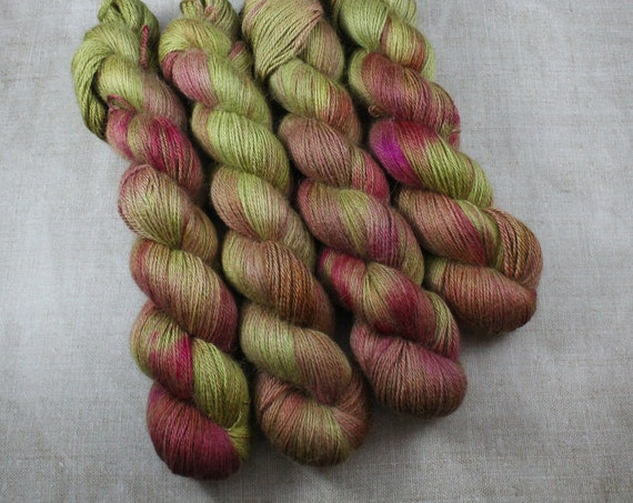 Silky Alpaca Fingering Weight, 4ply, Yarn - Rhubarb