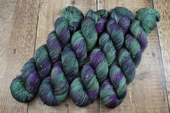 Donegal Tweed Sock Yarn - Merino/Nylon - Swamp Thing