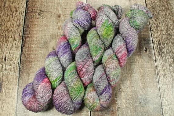 Hand Dyed Sparkle Sock Yarn - Snuggly Society