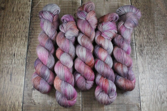 Silky Alpaca Fingering Weight, 4ply, Yarn - Rose Gold