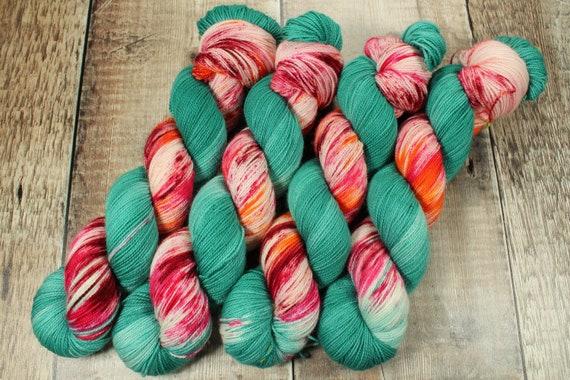 Hand Dyed Sock Yarn, SW Merino Nylon, Micro Self Striping Yarn - In The Storm