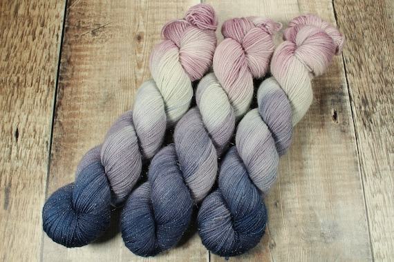 Hand Dyed Sparkle Sock Yarn - Rise Up
