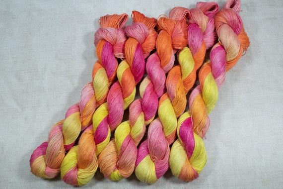 Hand Dyed Planty Yarn, Plant Yarn, Natural Fibres, Plant Based Yarn, 4ply Yarn, Fingering Weight Yarn - Fruit Salad