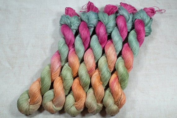 Hand Dyed Planty Yarn, Plant Yarn, Natural Fibres, Plant Based Yarn, 4ply Yarn, Fingering Weight Yarn - Cocktails on the Porch