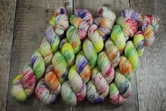 Silky Alpaca Fingering Weight, 4ply, Yarn - Unicorn Barf