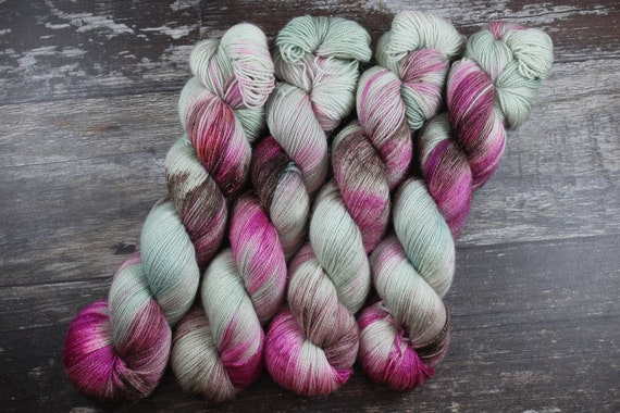 Hand Dyed Sparkle Sock Yarn - Cornetto