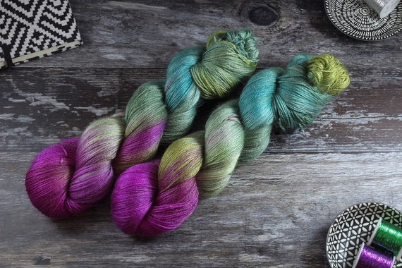 Hand Dyed Sock Yarn, 4ply, Plus Size Skein, 150g/600m, BFL and Silk - Seen Not Heard