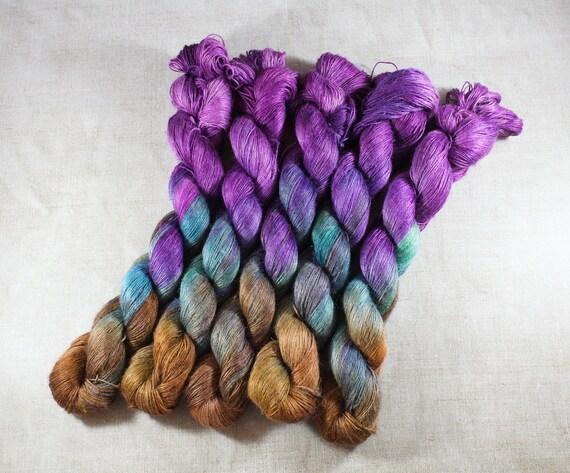 Hand Dyed Planty Yarn, Plant Yarn, Natural Fibres, Plant Based Yarn, 4ply Yarn, Fingering Weight Yarn - Dragon Eye