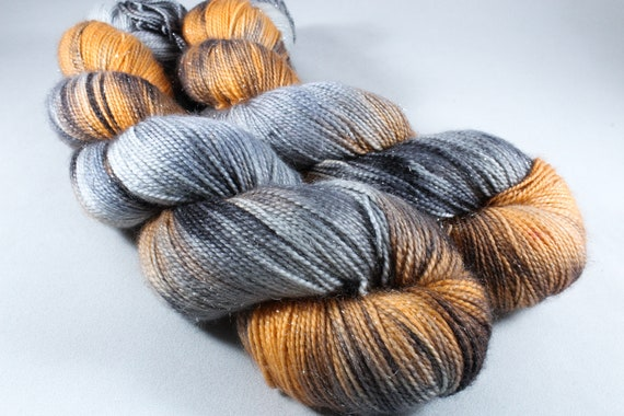 Hand Dyed Sparkle Sock Yarn - Mr Myers