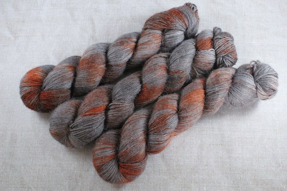 Hand Dyed Alpaca/Merino/Nylon Sock Yarn - Rustbucket