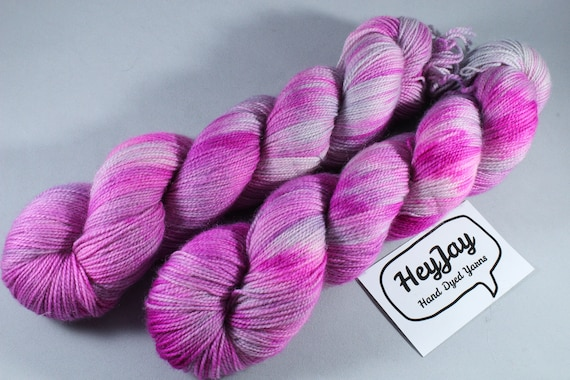 Hand Dyed Ultimate Sock Yarn, BFL High Twist - Neon Fairy
