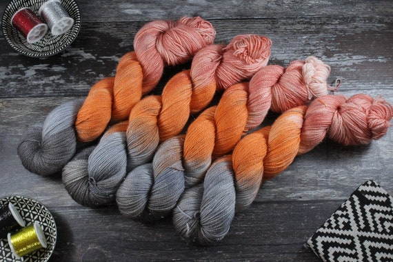 Hand Dyed Sparkle Sock Yarn - Geo