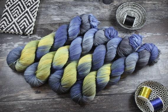 Hand Dyed Sock Yarn Superwash Merino/Nylon - Starry Night