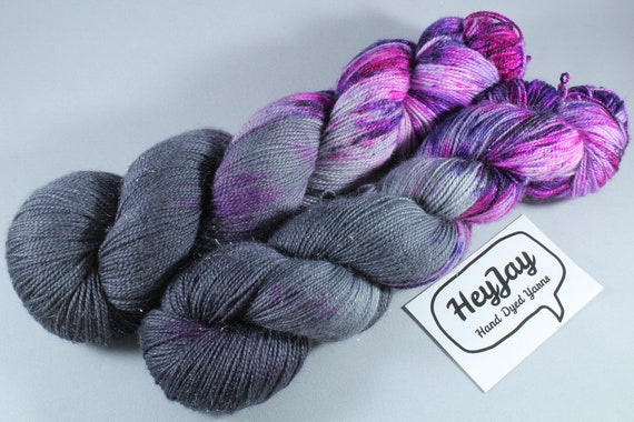 Hand Dyed Sparkle Sock Yarn - Touch of Nebula