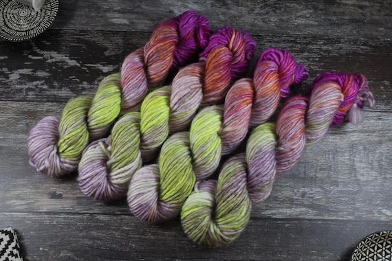 Hand Dyed Chunky Yarn, Merino, Nylon - Tutti Daiquiri