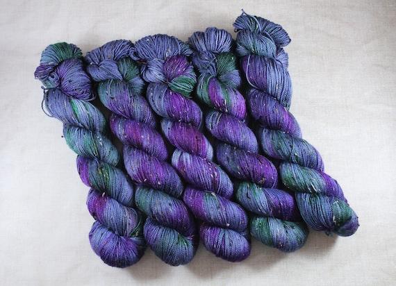 Donegal Tweed Sock Yarn - Merino/Nylon - Oilslick