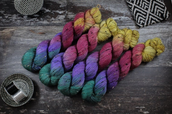 Donegal Tweed Sock Yarn - BFL - Radioactive