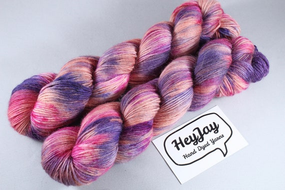 Hand Dyed Sock Yarn Merino, Alpaca, Nylon Blend - Sunrise