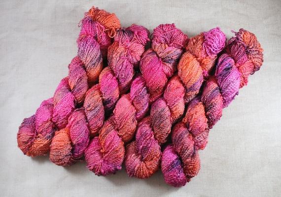 Hand Dyed Yarn, Slub Yarn, Merino, Nylon - Springy